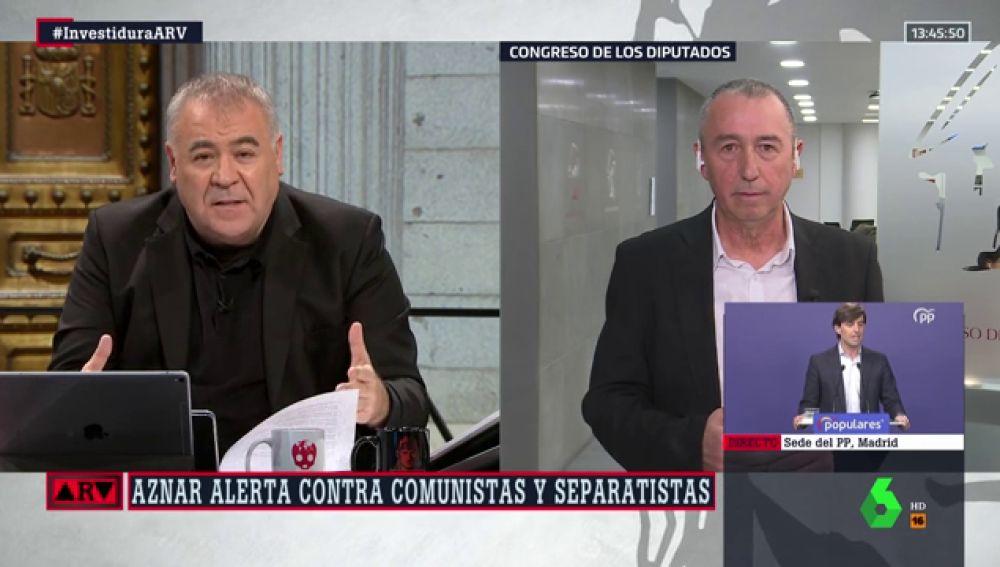 "Joan Baldoví (Compromís) responde a Aznar: ""Si está angustiado tómese una tila. La vida continúa"""