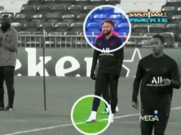 ¿Continúa Neymar lesionado? 'El Chiringuito' descubre sus gestos de dolor durante un entrenamiento
