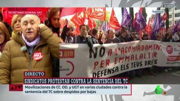 Los sindicatos se movilizan contra la sentencia del TC sobre los despidos por bajas
