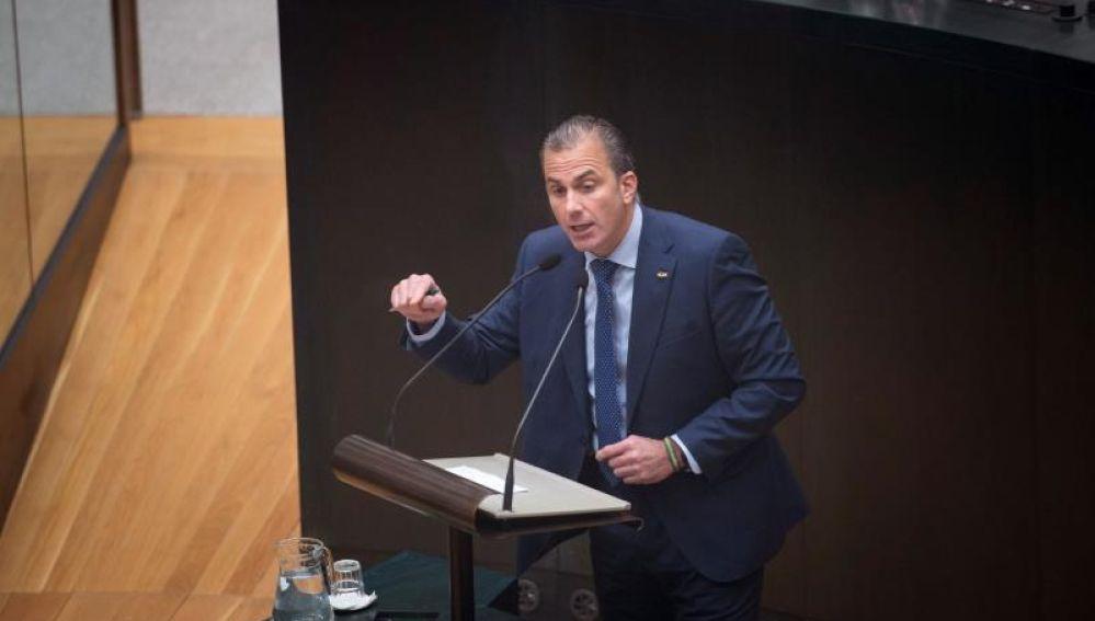 Javier Ortega Smith en el Ayuntamiento de Madrid