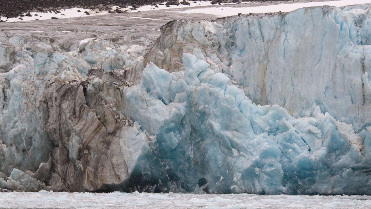 Uno de los glaciares que se avistan desde Noruega