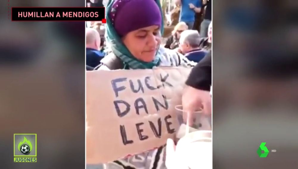 Hooligans del Chelsea roban el dinero y humillan a mendigas en Valencia