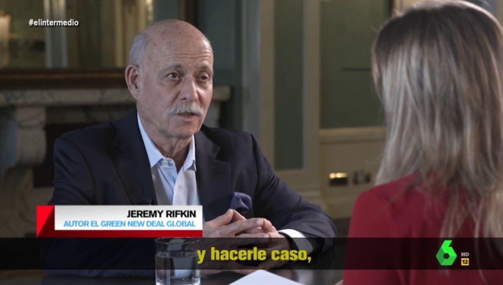 Jeremy Rifkin, economista y sociólogo estadounidense.