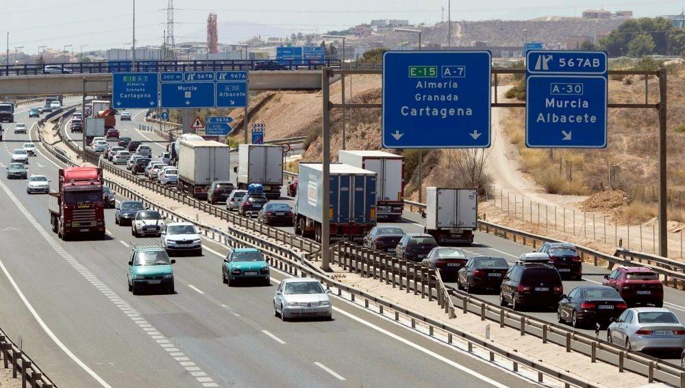 Imagen de archivo de la la A-7 en Murcia.