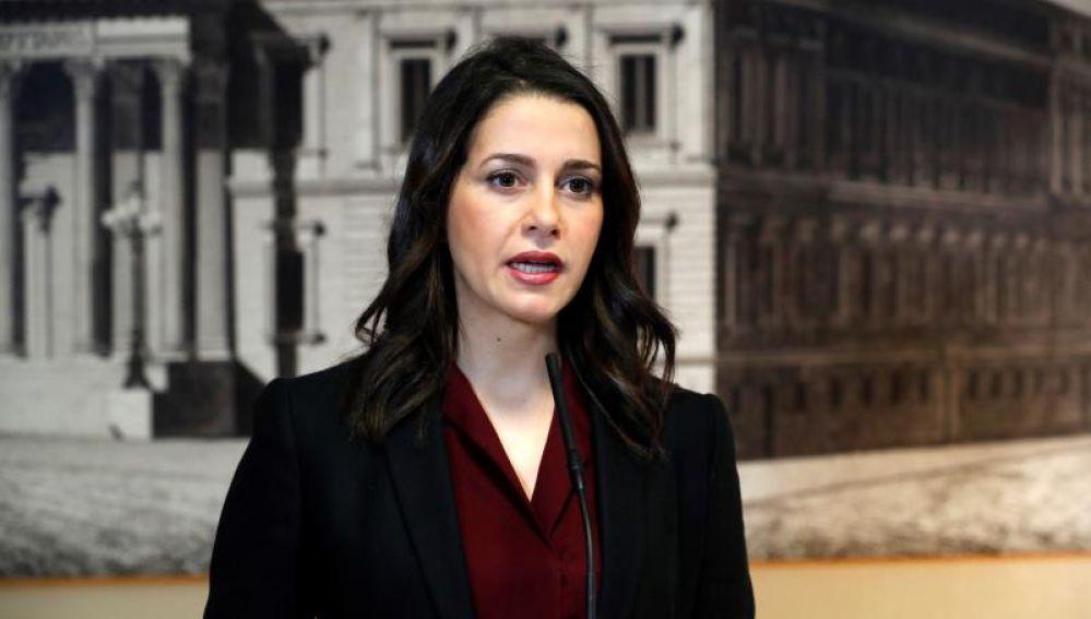 La portavoz de Ciudadanos, Inés Arrimadas