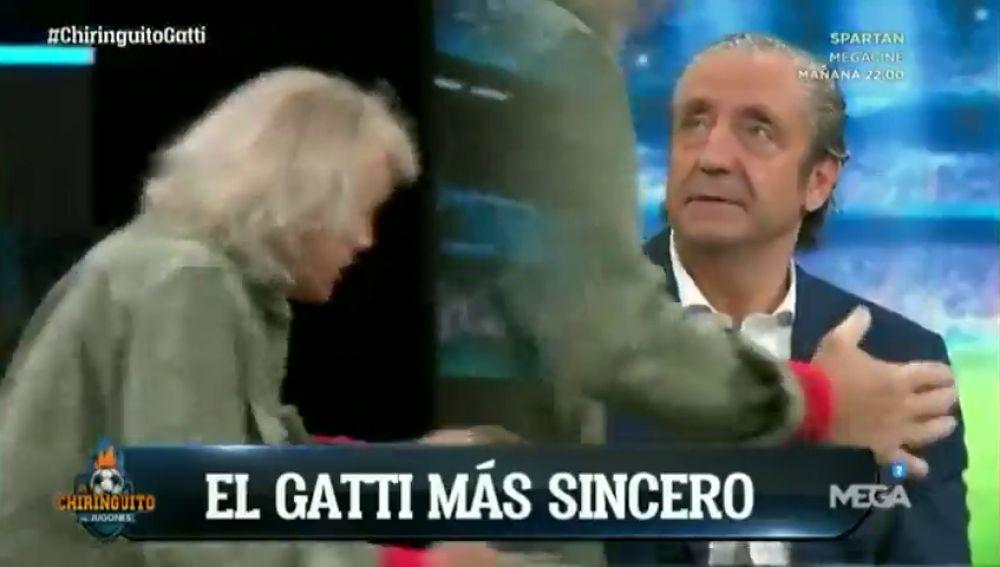 El beso de Gatti a Josep Pedrerol que revoluciona 'El Chiringuito'