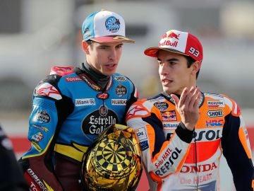Los hermanos Márquez, campeones del mundo de motociclismo de Moto GP y Moto 2