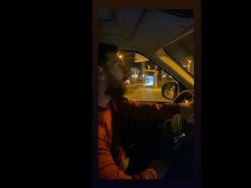 Messi, en su coche