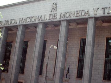 Fachada de la Fábrica Nacional de la Moneda y Timbre (Archivo)