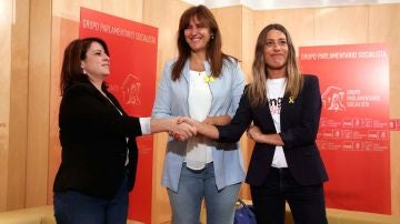 Adriana Lastra, Laura Borràs y Miriam Nogueras en una imagen de archivo