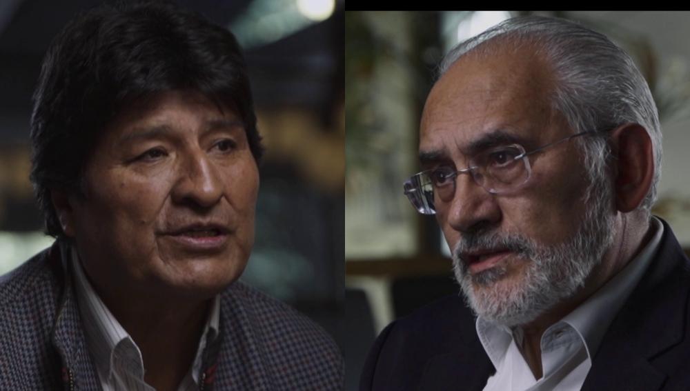 Evo Morales y Carlos Mesa en Salvados