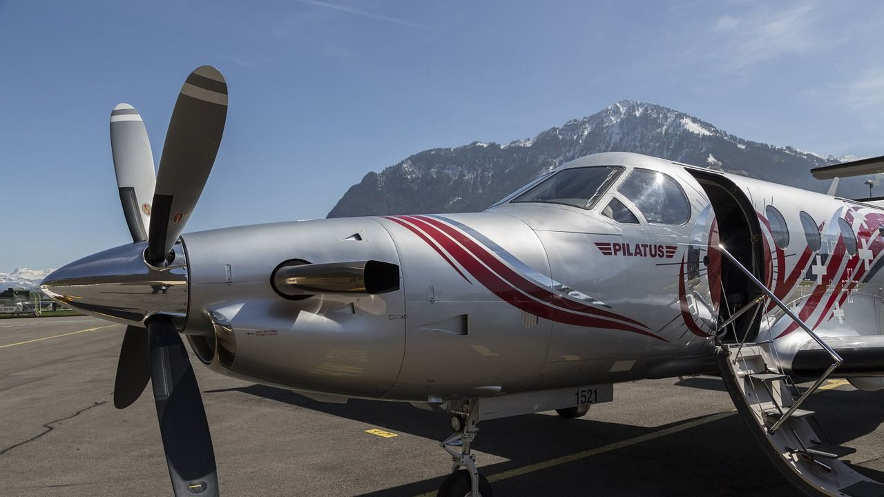 Imagen de archivo del modelo de avión Pilatus PC-12.
