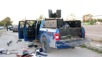 Un vehículo blindado tiroteado durante los hechos
