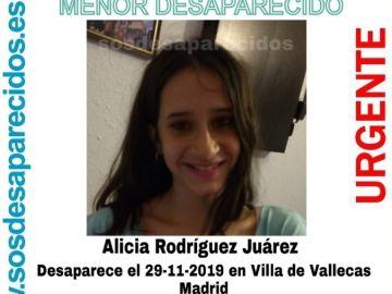 Alicia Rodríguez Juárez, desaparecida en Madrid