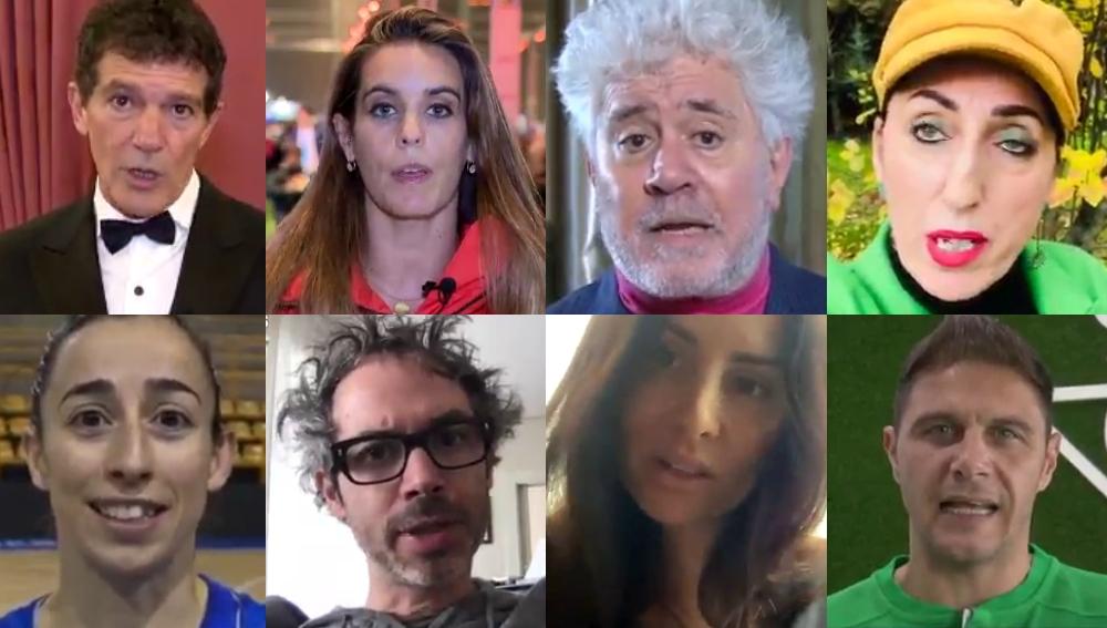 Algunos de los rostros del vídeo contra el cambio climático