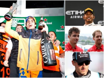 Carlos Sainz, Leclerc, Hamilton, Vettel y Kubica