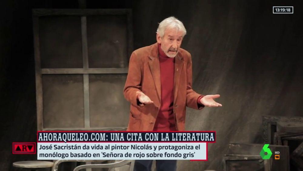 """El emocionante relato de José Sacristán de 'Señora de rojo sobre fondo gris' en directo: """"Es un momento mágico"""""""