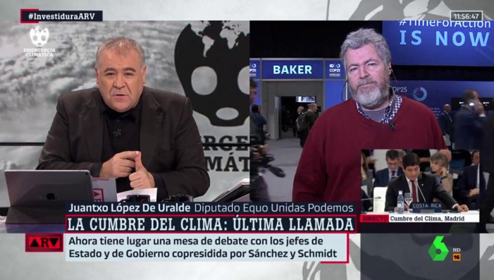 Antonio García Ferreras y Juantxo López de Uralde