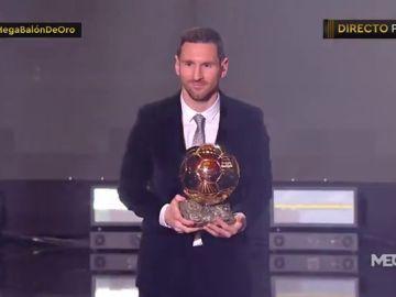 Leo Messi levanta en París su sexto Balón de Oro y desempata con Cristiano Ronaldo como el mejor de la historia