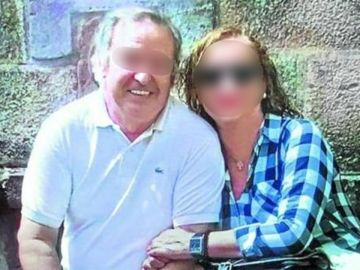 Jesús Mari junto a su mujer, acusada del crimen de Castro Urdiales