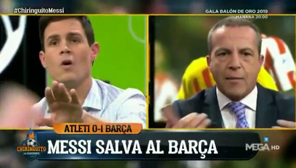 """Duro cara a cara entre Cristóbal Soria y Edu Aguirre por Messi: """"¡Anda ya con el rollo!"""""""