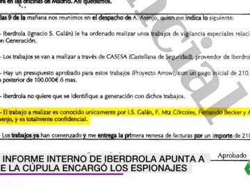 Un informe interno de Iberdrola apunta a que la cúpula encargó los espionajes de Villarejo