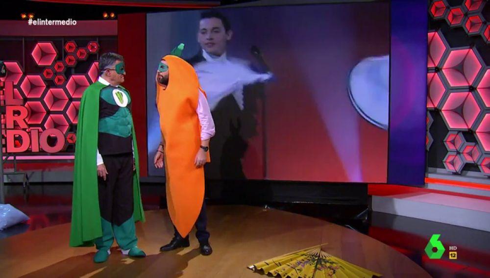 """El 'enfado' de Dani Mateo con Wyoming: """"¡Basta! Tengo 40 años y estoy bailando vestido de zanahoria, deberían prohibir El Intermedio"""""""