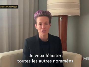 Megan Rapinoe completa su año de ensueño y alza el Balón de Oro en París