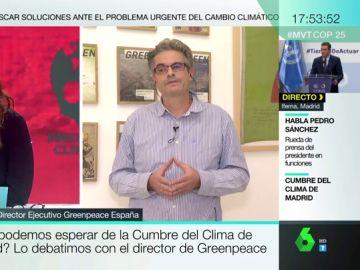 """Mario Rodríguez (Greenpeace): """"La solución al cambio climático no es de derechas o izquierdas, es un reto para la humanidad"""""""