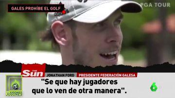 Gales le prohíbe el golf a Bale