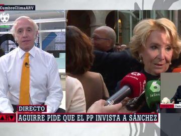 """Inda, después de que Aguirre pida al PP que invista a Sánchez: """"Casado no aceptará o, ¿quiere que Vox le coma la tostada al PP?"""""""
