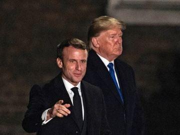 Trump y Macron en la cumbre de la OTAN en Londres