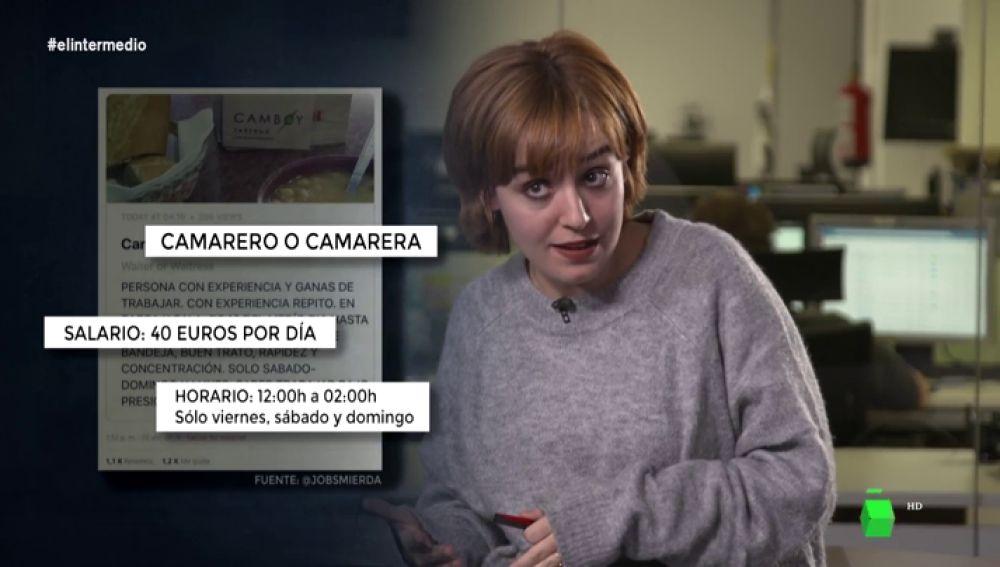 Cobrar 450 euros por trabajar 40 horas o jornadas de hasta 14 horas: estas son las ofertas de trabajo más abusivas de la red