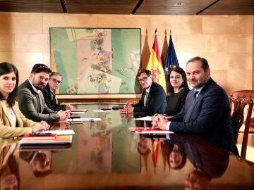 Reunión PSOE y ERC