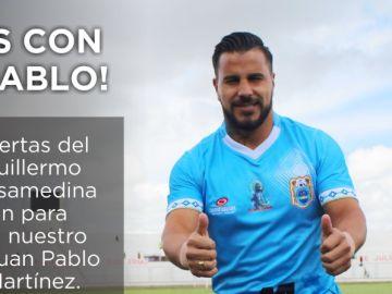 Juan Pablo Vergara, homenajeado por su club, el Deportivo Binacional