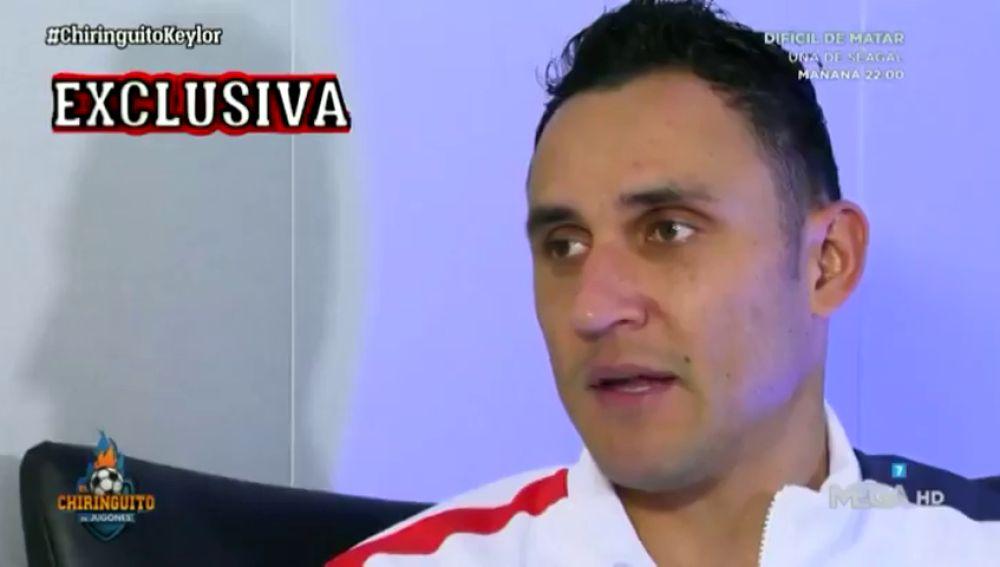 Keylor Navas descartó sentir que el Real Madrid le haya fallado