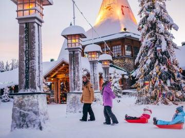 Cruzando al Ártico en Rovaniemi