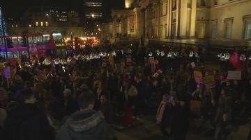 Protesta en el centro de Londres