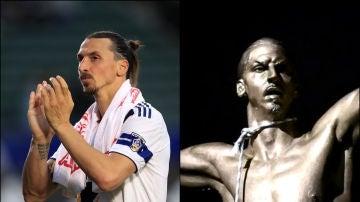 Ibrahimovic, con su estatua ahorcada