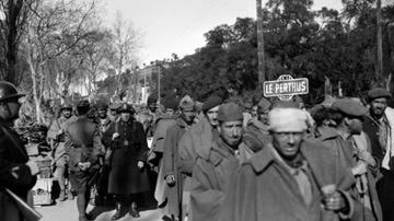 Entrada masiva de españoles en Le Perthus en 1939