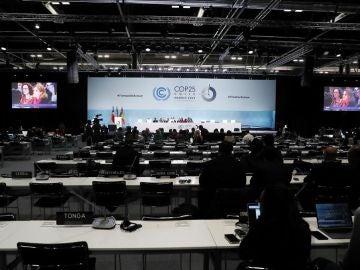 Vista general durante la reunión de la Cumbre del Clima de Madrid