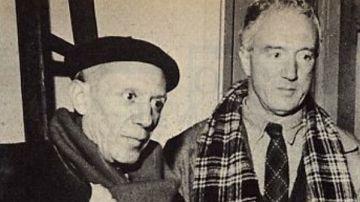 Pablo Picasso y Manuel Ángeles Ortiz, en un encuentro en 1953