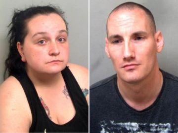 Jessica Fry y Mark Gable, detenidos por grabar vídeos abusando sexualmente de menores.
