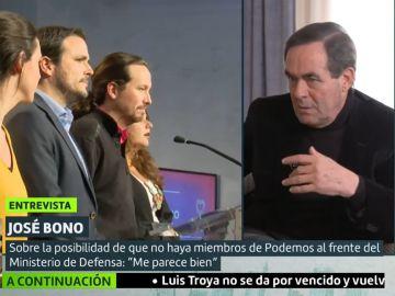 Pablo Iglesias y José Bono