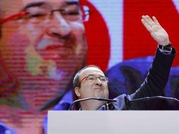 Iceta durante la segunda jornada del congreso del PSC celebrado en Barcelona