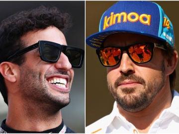 Daniel Ricciardo y Fernando Alonso