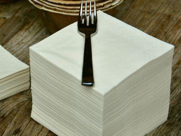 Imagen de archivo de una servilleta de papel.