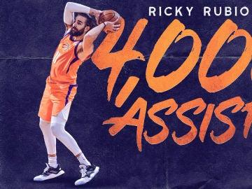 Ricky Rubio suma 4.000 asistencias en la NBA