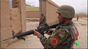 Imagen de un militar en la Guerra de Afganistán.
