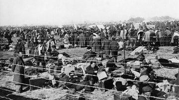 Campo de refugiados de Argelès-sur-Mer, en Francia